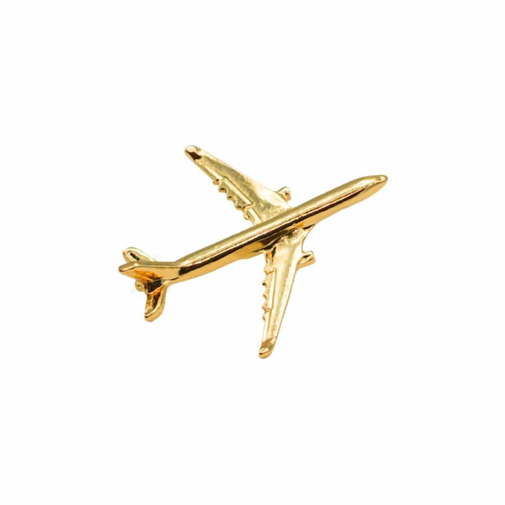 Flugzeug Pin Airbus A330 gold
